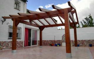 pergola en patio interior
