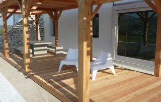 porche madera noble