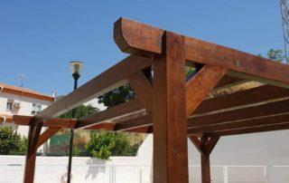 pergola de madera