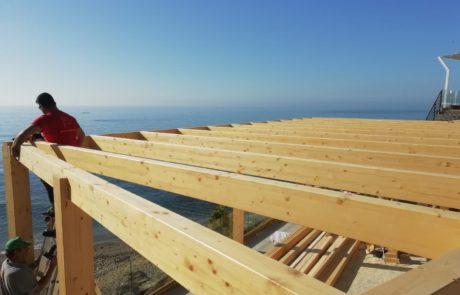 instalación de pérgolas de madera