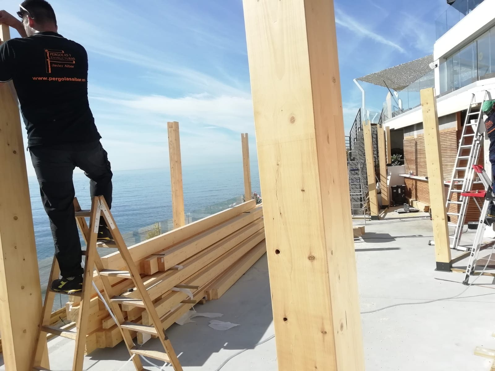 instalacion de pergolas de madera