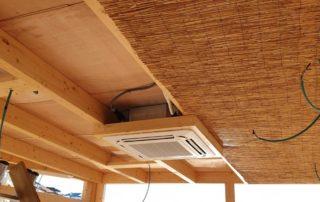 cubierta de madera noble