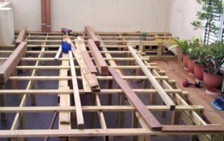 estructura en madera noble