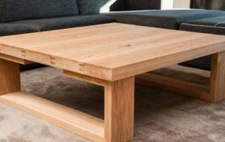 mesas de madera noble
